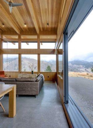 baie vitrée coulissante bois-alu - Nahahum Canyon House par Balance Associates - Nahahum Canyon, Usa