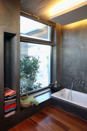 baignoire salle de bains - A&A-House par WoArchitects - Athènes, Grèce