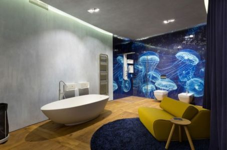 baignoire salle de bains - Residence-BO par Baraban+design studio - Kiev, Ukraine