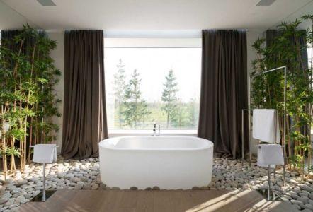baignoire salle de bains - Villa Agalarov par SL Project - près de Moscou, Russie