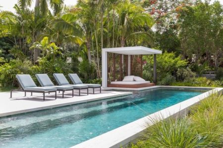 bains soleil & piscine - Hucker Residence par Strang - Miami, USA