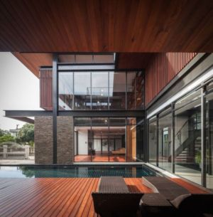 bains soleil terrasse - Bridge-House par Junsekino Architects And Design - Bangkok, Thaïlande