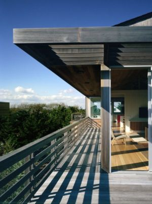 balcon - Fire-Island-House par John Butterworth - New-York, USA