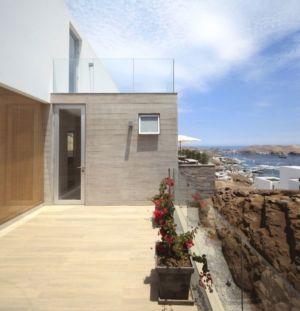 balcon - House-Poseidon par Domenack arquitectos - Pucusama, Pérou