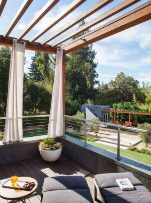 balcon - Los-Altos-House Dotter Solfjeld Architecture - Los Atlos, USA