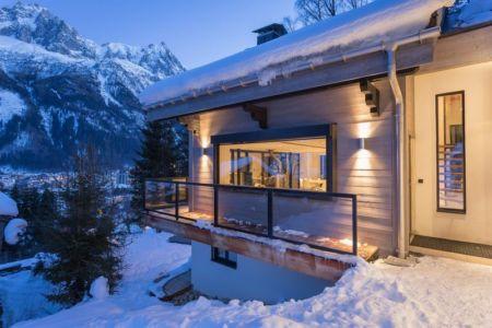 balcon étage - Chalet-Dag par Chevalier Architectes - France