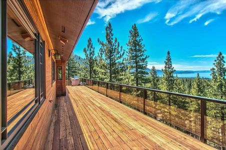 balcon étage - lake-view-cabin - Nevada, USA