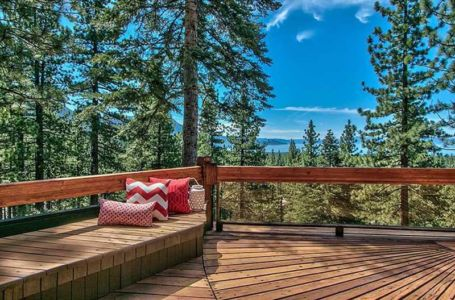 balcon & panorama - lake-view-cabin - Nevada, USA