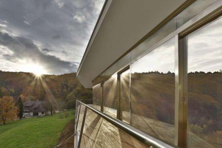 balcon et baies vitrées - Villas-2B par Love Architecture - Graz, Autriche