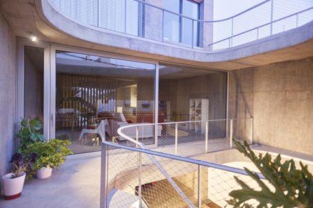 balcon pation intérieur- g-house par Esau Acosta - El Sauzal, Espagne