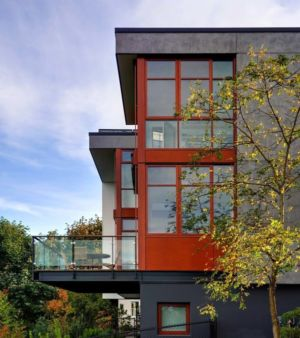 balcon terrasse - Capitol Hill par Balance Associates Architects - Seattle, Usa
