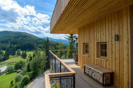 balcon terrasse - Deluxe Mountain Chalets par Viereck Architects - Styria, Autriche