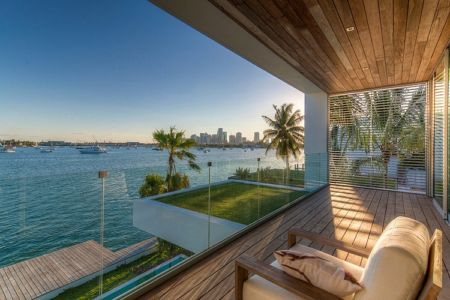 balcon terrasse - Peribere Residence par Max Strang Architecture - Biscayne Bay, Usa