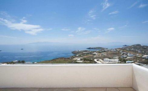 balcon - villa-grecque - île Mykonos, Grèce