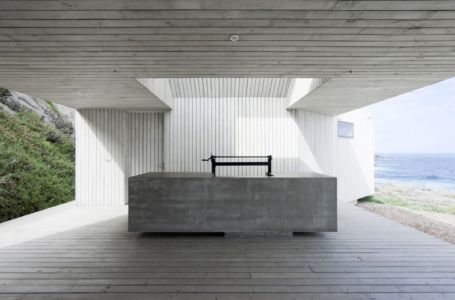 barbecue - Rambla House par LAND Arquitectos - Zapallar, Chili