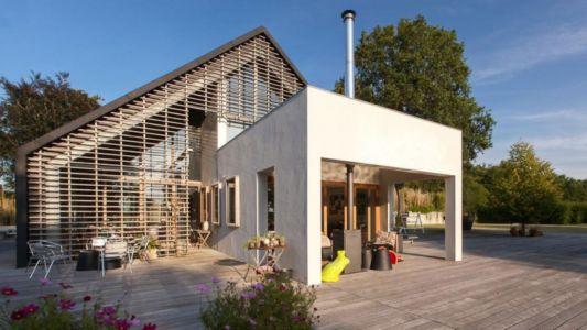 barbecue terrasse - Donderen Barnhouse par aatvos - Donderen, Pays-Bas