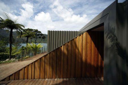 bardage bois - Porotu Bach par studio MWA - Miritu Bay, New Zealand