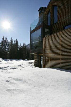 bardage et alcôve - Chalet Piolet par Chevallier Architectes - Chamonix, France