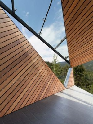 bardage terrasse - Hadaway house par Patkau architects - Whistler valley, Canada