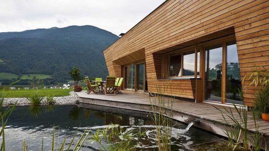 bassin - Brunner House par Norbert Dalsass - Italie