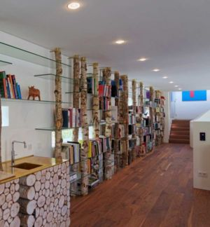 bibiliothèque originale - The Dune Villa par HILBERINKBOSCH Architects - Utrecht, Pays-Bas