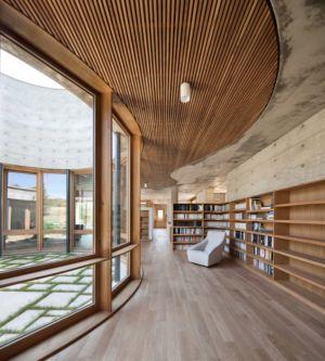 bibliothèque - Maison Terrier par Bernard Quirot architecte + associés - Haute-Saône, France