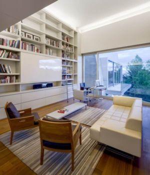 bibliothèque & salon secondaire - Club-Residence par Migdal Arquitectos - Mexico, Mexique