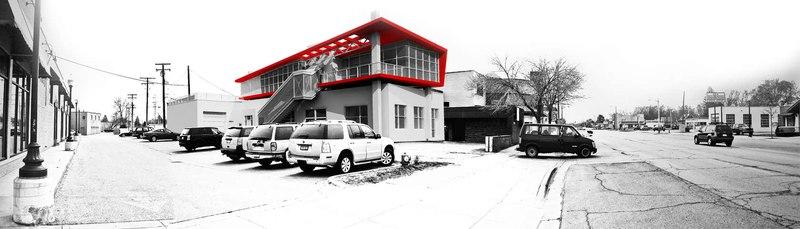 black & red effect  - Flute house par The Think Shop Architects - Royal Oak , Usa