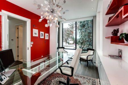 bureau - Ashley Park House par Barroso Homes - Toronto, Canada