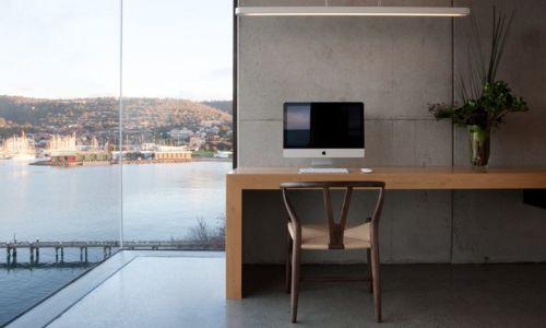 bureau - Home Overhanging par MGArchitects - Tasmanie, Australie