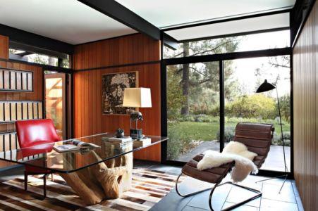 bureau - La Cañada Residence par Jamie Bush & Co. - Sierra Madre, Usa