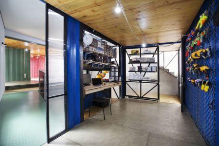 bureau & atelier de jeux - Container-Urban par Atelier Riri - Bekasi, Indonesie