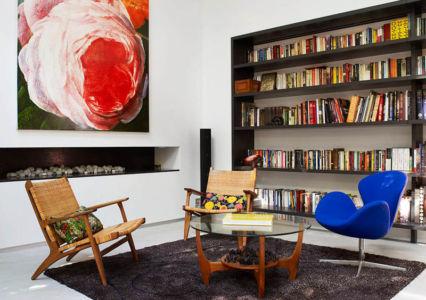 bureau & bibliothèque - Bulwarra - maison kate Blanchett - Sydney, Australie