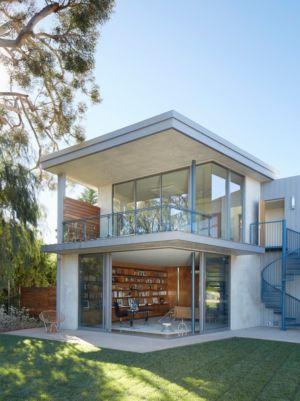 bureau bibliothèque - Chatauqua Residence par Studio William Hefner - Californie, Usa
