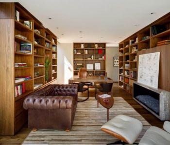 bureau bibliothèque - Garden house par VGZ Architecture - Mexico, Mexique
