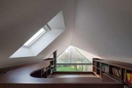 bureau & bibliothèque - House-four-houses par Prod Architecture - Penafiel, Portugal