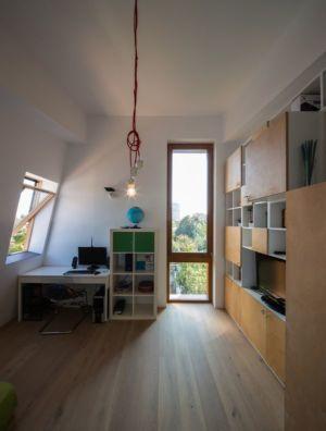 bureau & bibliothèque - LAMA-House par LAMA Arhitectura - Bucarest, Roumanie