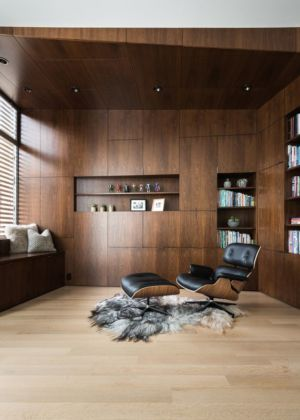 bureau & bibliothèque - house-young-family par Feldman Architecture - San Francisco, USA
