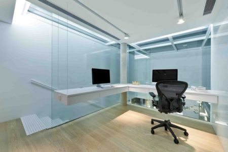 bureau mezzanine - construction écologique par Millimeter Interior Design Limited - Hong Kong