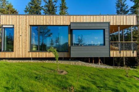 côté façade - Deluxe Mountain Chalets par Viereck Architects - Styria, Autriche