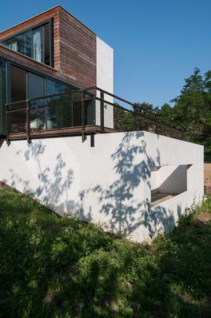 côté maison - maison Pegasus par Saint-Cricq architecte - Toulouse, France