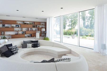 canapé design salon - villa-am-bodensee par jung - lac constance, Suisse