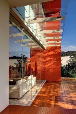 casquette en verre et baie vitrée terrasse - House-S par Lassala Elenes Arquitectos - Zapopan, Mexique