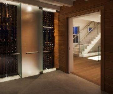 cave à vins - Squam Residence par J. Brown Builders - Nantucket Island, Usa - photo Jeffrey Allen