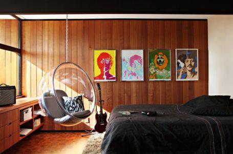 chambre 60's - La Cañada Residence par Jamie Bush & Co. - Sierra Madre, Usa