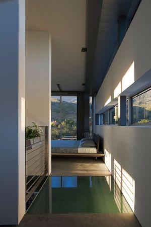 chambre - Anthrazit House par Architects Magnus - Santa Barbara, Usa