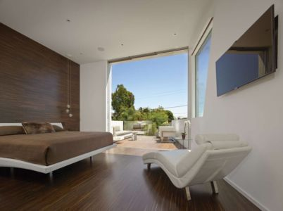 chambre - Birch Residence par Griffin Enright Architects - Los Angeles, Usa