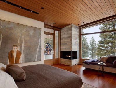 chambre - Butte Residence par Carney Logan Burke Architects - Jackson, Usa