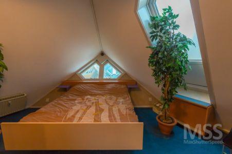 chambre - Cube-houses par Piet Blom - Rotterdam, Pays-Bas