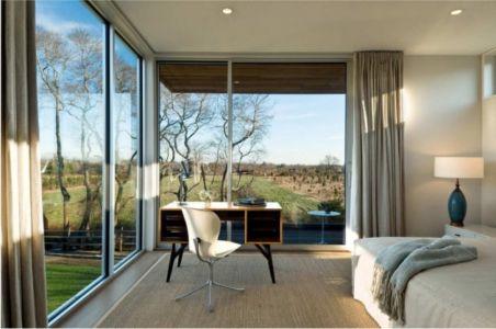 chambre - Fieldview house par Blaze Makoid Architecture - East Hampton, Usa